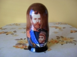 5 pieces Nikolay Romanov matryoshka