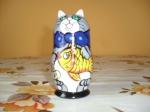 5 pieces blue cat matryoshka