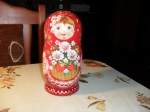 5 pieces flower matryoshka