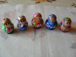 5 pieces small matrioshka